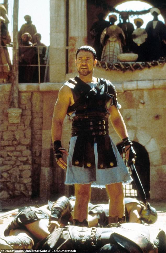 Hi opinion: Crowe called making Gladiator – released 20 years ago last month – 'a unique experience,' partly because 'the [initial] script that they had was so bad'