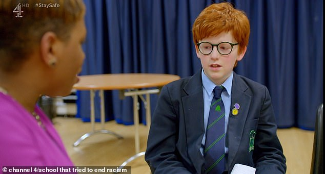The 11-year-old boy was comforted by his teacher as he revealed that he was having difficulty with the experience.