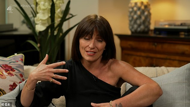 Popular: Davina McCall recalled how Brian was nervous to take part in the show but added that the nation 'took him under their wing'