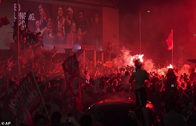 Liverpool fans gathered in their thousands to celebrate the end of their 30-year title wait