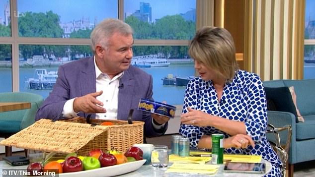 Special day: Eamonn Holmes and Ruth Langsford celebrated their 10th wedding anniversary on This Morning on Friday