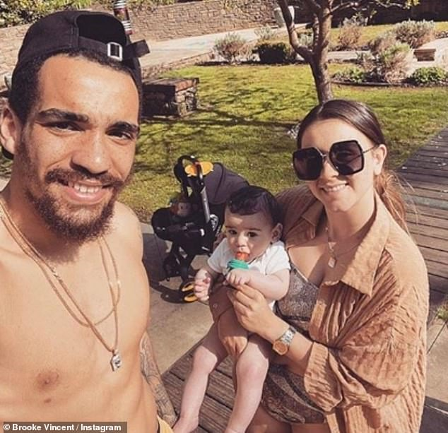 My boy: Last year, the sportsman and the soap star welcomed their beloved son Mexx