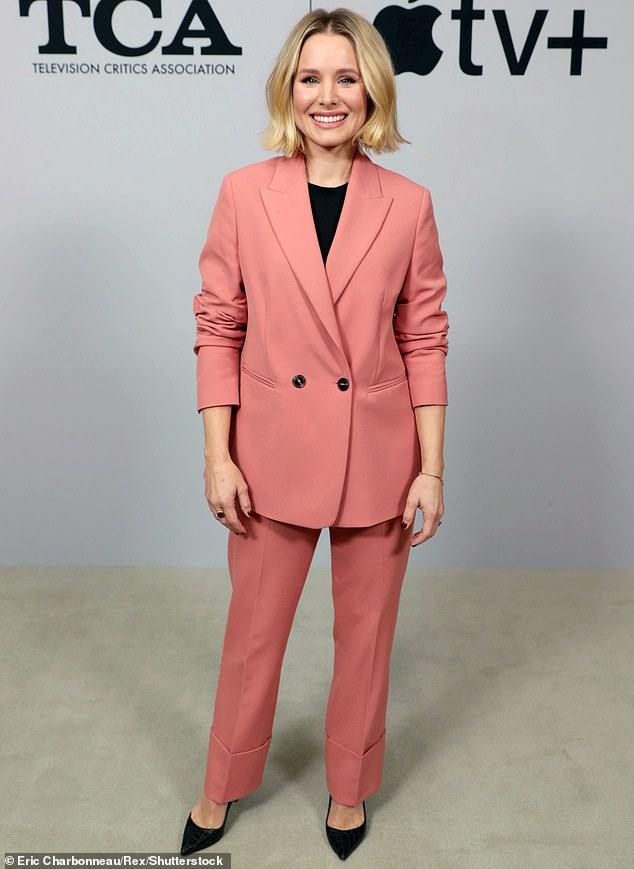 Suit: Kristen Bell followed suit, quitting her role as Molly Tillerman on the animated music series from Apple TV + Central Park (photo in January 2020)