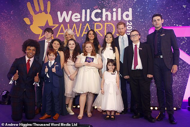 WellChild, a charity for sick children backed by Prince Harry (back row, right), revealed that thousands of vulnerable young kids are suffering from shortages in ventilator equipment
