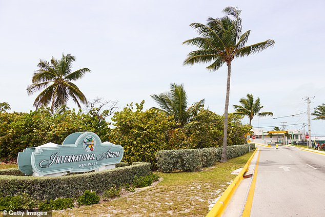 Pictured: Key West International Airport where Monroe County Sheriff's assistants found Toles on Monday
