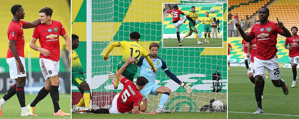 Norwich 1-2 Manchester United (aet): Harry Maguire 118th minute strike breaks 10-man