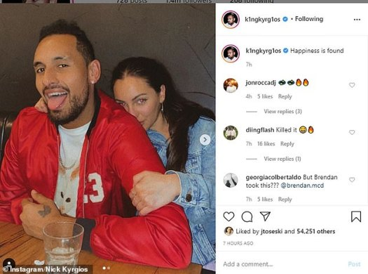 Tennis bad boy Nick Kyrgios appears to debut a new ...