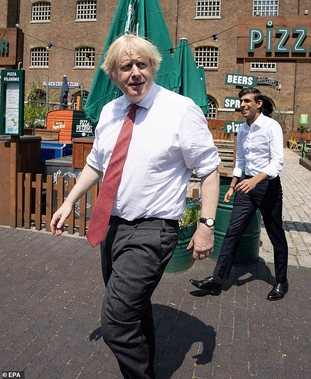 Boris Johnson (pictured with Rishi Sunak, June 26) ordered a national lockdown on March 23