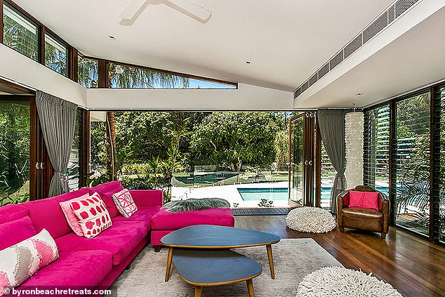 Lavish: The Sunday Telegraph has previously alleged that Zac was staying at The Boardwalk (pictured), a Byron Beach Retreats property located in the coastal suburb of Broken Head