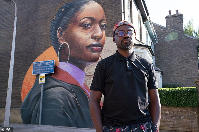 Artist: Dreph, real name Neequaye Dsane, (photo) is best known for his large-scale murals and oil paintings, and subjects range from strangers to friends and family