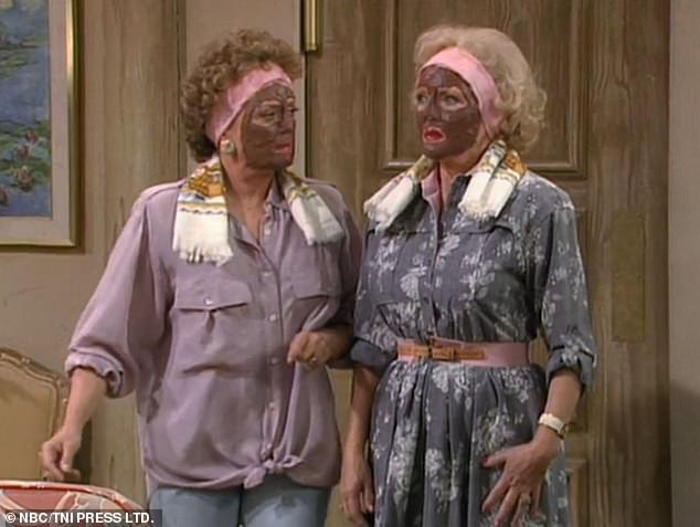 Tasteful: Hulu deleted an episode of the Golden Girls for a blackface joke, which featured street stars McClanahan and Betty White wearing mud masks