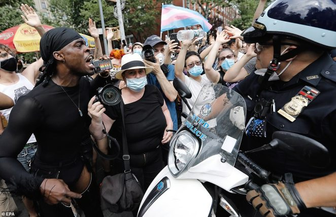 The Queer Liberation March had begun peacefully but descended into scuffles once police began making arrests