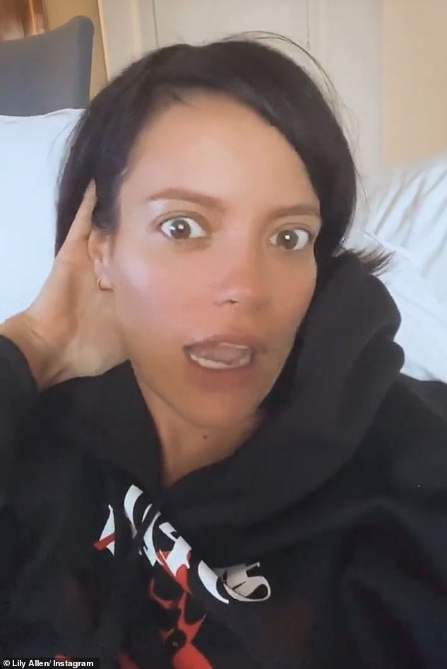 Another view: in may, Lily showed her dyed black hair, as she shared the video, and at home, to tell her fans that she was once asked to appear on American horror story