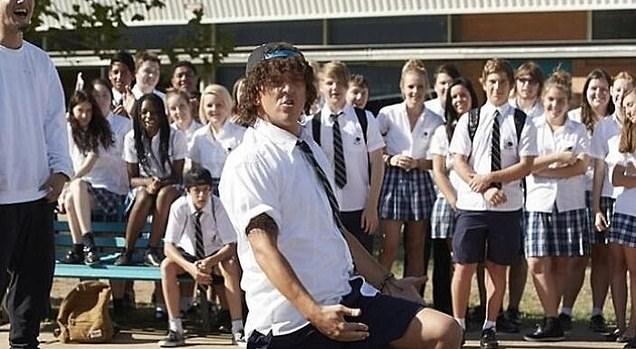 In another stark comparison between Mr Mahe and Jonah, Mr Mahe and his friends - who are also of Pacific Islander background - hip hop danced in the school's quadrangle