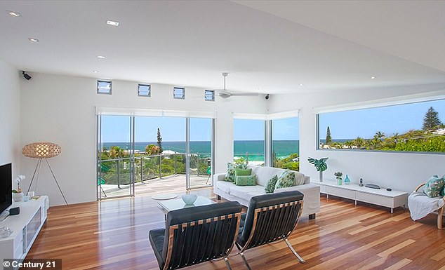 Room to move: It features a spacious living room that connects to an outdoor entertaining area with views of the beach
