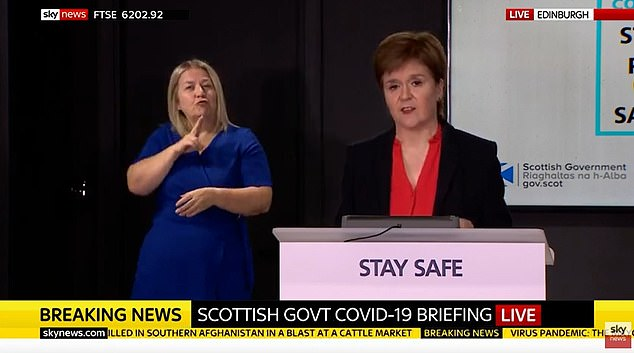 The Scottish First Minister lashed out at the Westminster Government over plans due to be released within days to link the UK with countries with low coronavirus rates.