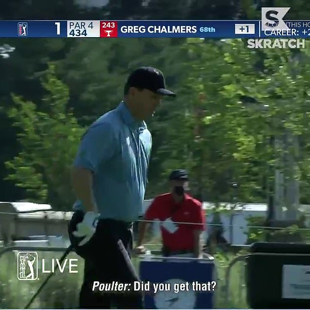 Ryder Cup star Poulter then cheekily asked the cameraman: 'Did you get that?'