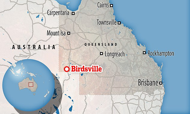 Birdsville lies over 980 miles to the west of Brisbane. Many visitors arrive by air