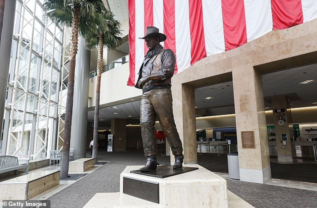 Democrats in the area also want the statue of the actor removed from the airport