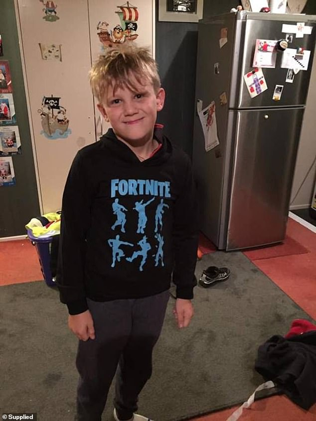 Cameron stabbed Hunter (pictured) to death in October, 2019, while babysitting him in Otautau, New Zealand, only saying the boy was 'really annoying' on the night he died