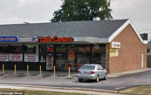 Two Little Caesars workers at the Brook Park branch (pictured) have been fired and the highly-popular chain said it is 'deeply disappointed' by the actions of its employees