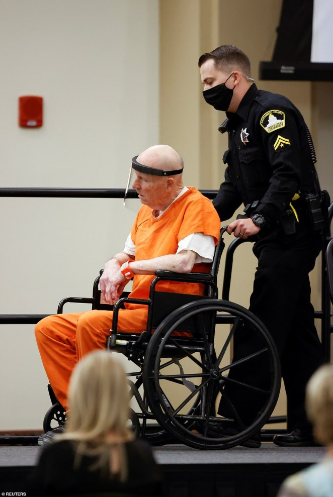 The frail 74-year-old was wheeled in to the university ballroom