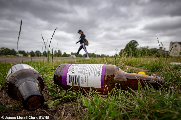 Discarded bottles were also found on Midsummer Common in Cambridge following the weekend