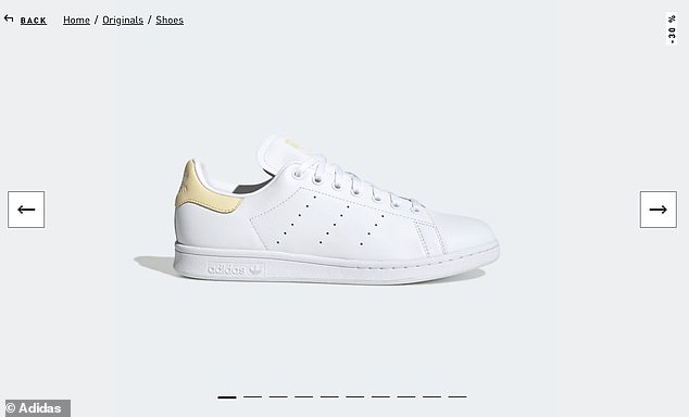 Meghan was spotted wearing Stan smith trainers by Adidas, costing, £52.47 as she and Harry delivered food in Los Angeles