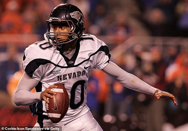 'We explore the racial conflicts I faced as an adopted Black man in a white community, during my high school years,' he continued. 'It's an honor to bring these stories to life in collaboration with Ava for the world to see.' (Kaepernick pictured in college in 2009)