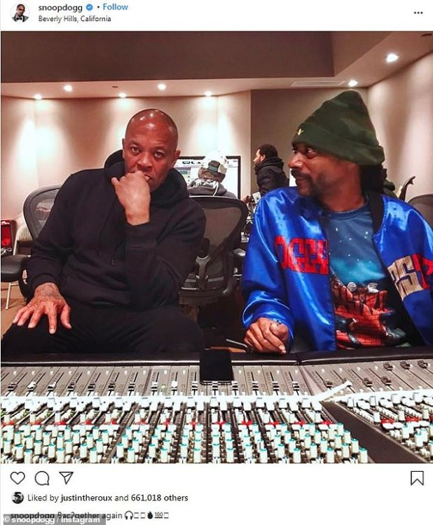 Back in the studio: Two days ago, rapper Snoop Dogg revealed that he is once again working with the iconic hip-hop producer for new music