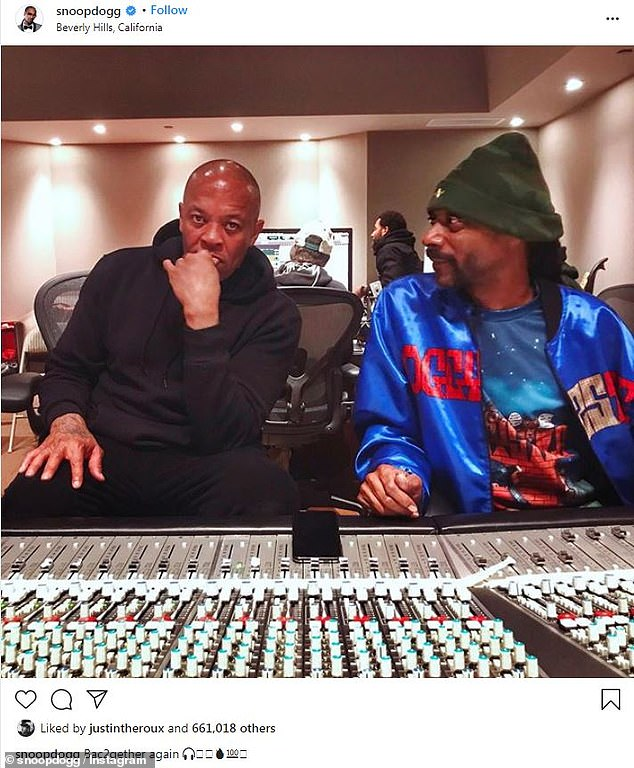 Back in the studio: Two days ago, rapper Snoop Dogg revealed he's working with the iconic hip-hop producer again on new music