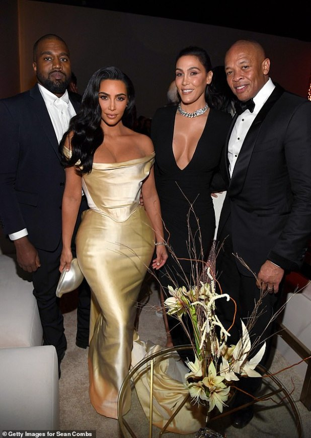 Famous: Dey and wife Nicole photographed 50th birthday party in Los Angeles on December 14, 2019 at Sean Coombs with Kanye West and Kim Kardashian West.