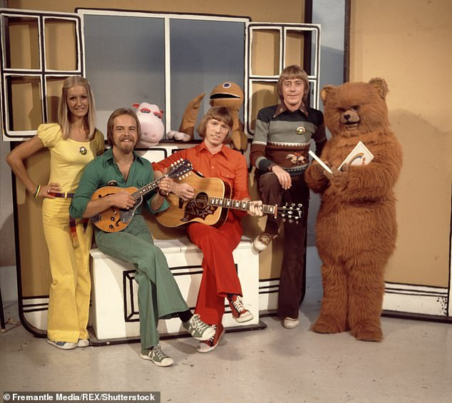 Old life: Matthew was a regular on children's show Rainbow until he left to take over The Sooty Show (pictured on Rainbow)