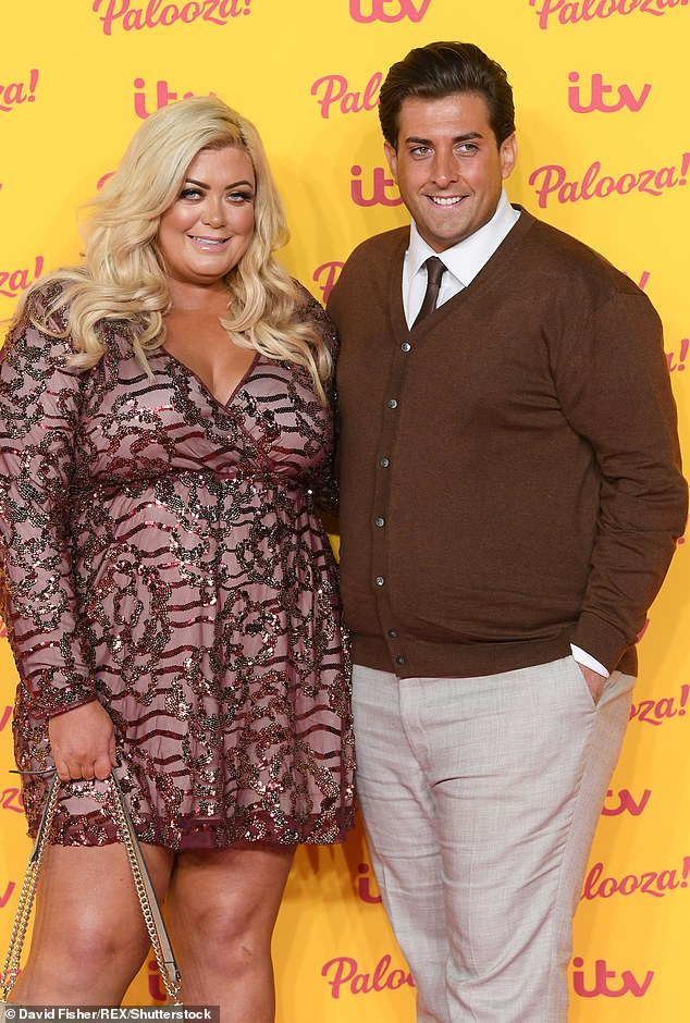 Support:The TOWIE star, 32, will apparently have to undergo drugs tests to prove that he is clean after admitting to taking cocaine last month (pictured with girlfriend Gemma Collins)