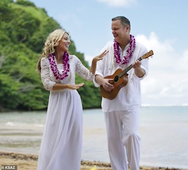 Chad married Lori less than two months after her children vanished. The couple are seen during their wedding on the beach in Kauai