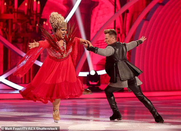 Following her lead: James' interest in the ice skating programme comes after his on/off girlfriend Gemma's appeared on the show last year with partner Matt Evers