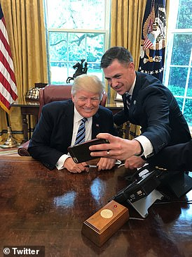 Republican Congressman Jim Banks of Indiana (seen in the Oval Office with President Trump) after he left a White House briefing on Monday, tweeted that the Russian payments to the Taliban for killing U.S. troops went back to his service in Afghanistan in 2014 and 2015