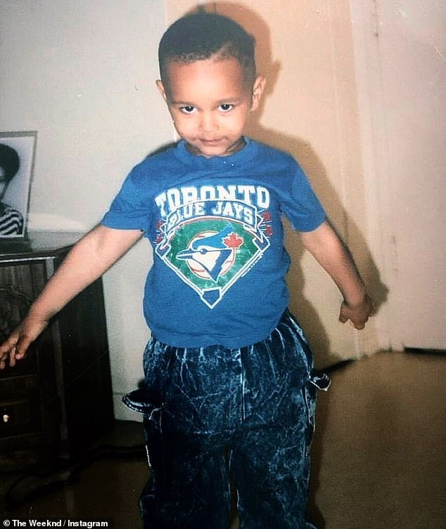 Throwback photo: The Weeknd shared a throwback photo of himself on Monday on Instagram wearing a Toronto Blue Jays shirt