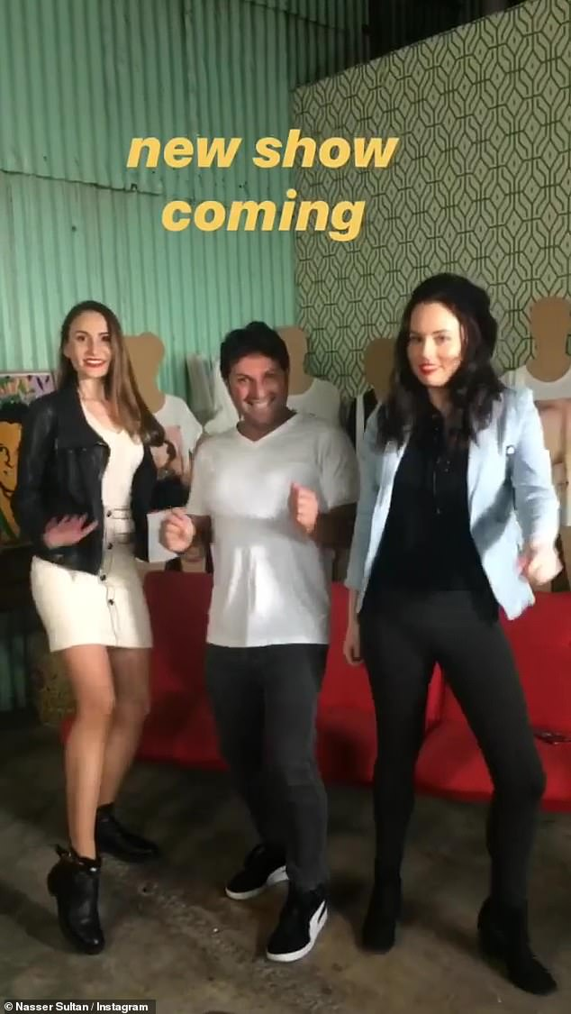 New co-stars? Nasser shared a boomerang with two women, who appear to be his co-stars for the new show