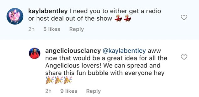 New show? Angela said she'd be interested in hosting her own program after a fan suggested the idea on Instagram
