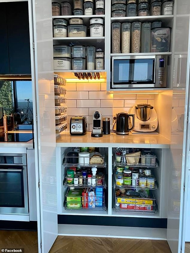 A hidden cupboard for all your cooking needs: 'My favourite in our city apartment is definitely my pantry. It keeps everything hidden from view but easy to access,' this woman wrote