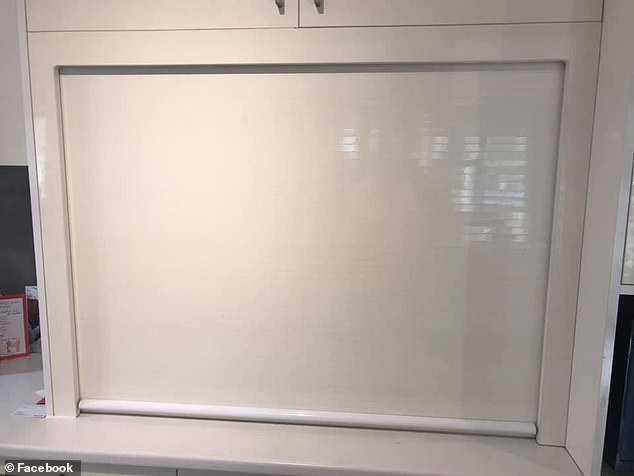 What's hidden behind? One woman created a screen to hide her appliances in the kitchen