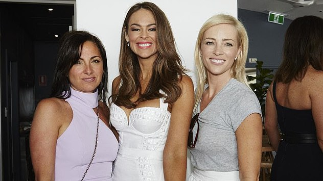 Emma Steel (centre) pictured at a Christmas lunch at theSydney Children's Hospital Silver Committee in 2014