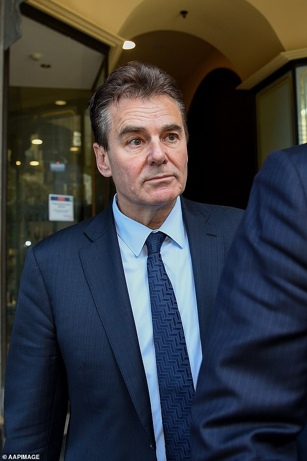Dr Steel is seen leaving Downing Centre District Court during a break in proceedings on Tuesday
