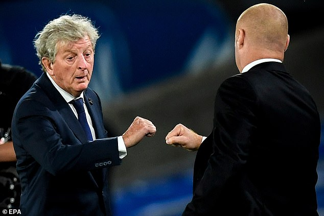 Roy Hodgson (left) says Crystal Palace are happy to play Leicester at a neutral venue