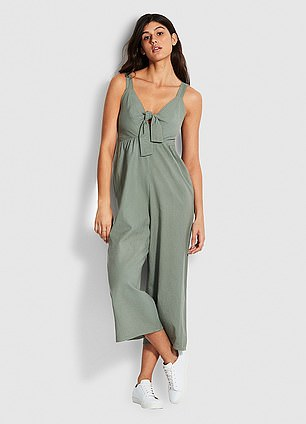 The Tilda Tie Jumpsuit has had more than $100 slashed off the price so you can pick it up for $45