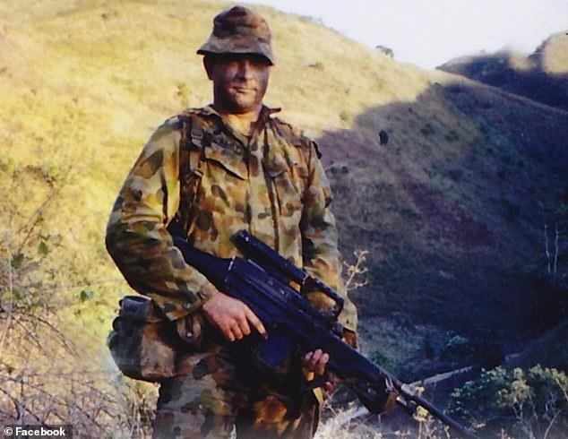 Mr Hurley (pictured), who served in East Timor and Malaysia, was diagnosed with the potentially fatal brain tumour in 2019 and was forced to stop working