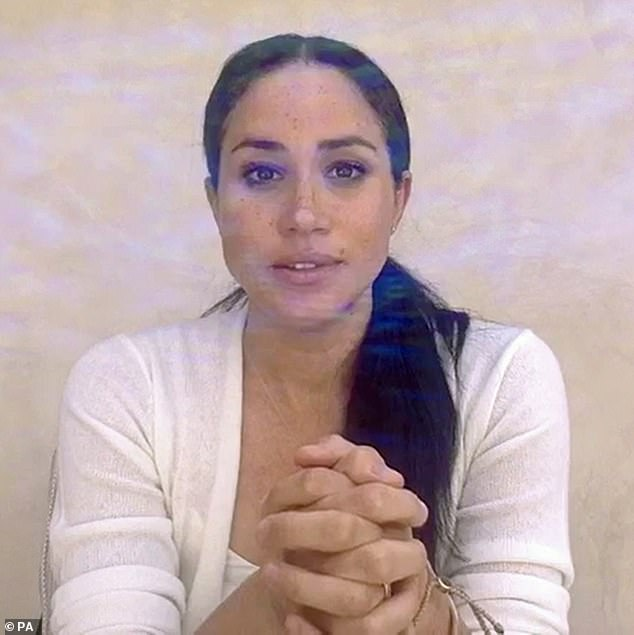 The Duchess of Sussex (pictured recently), 38, who is currently living in LA with Prince Harry, 35, and their son Archie, one, is thought to have alienated herself from the staff tasked with easing her transition into royalty