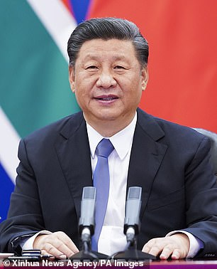 Pictured, Chinese President Xi Jinping gives a speech in Beijing on June 17