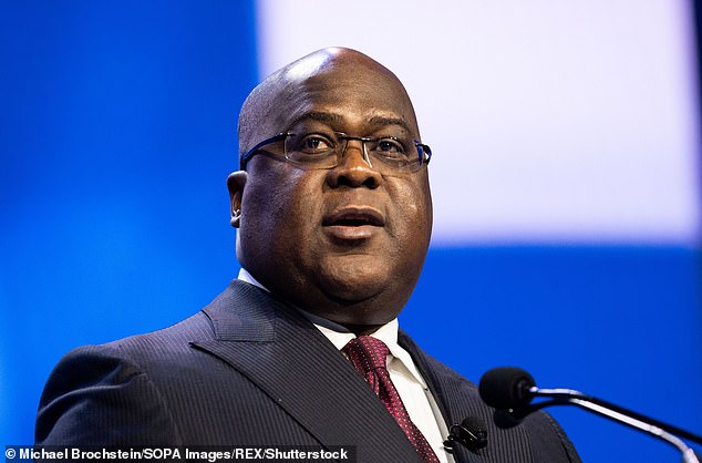 Philippe made his remarks in a letter to the president of the Democratic Republic of Congo, Felix Tshisekedi (pictured)